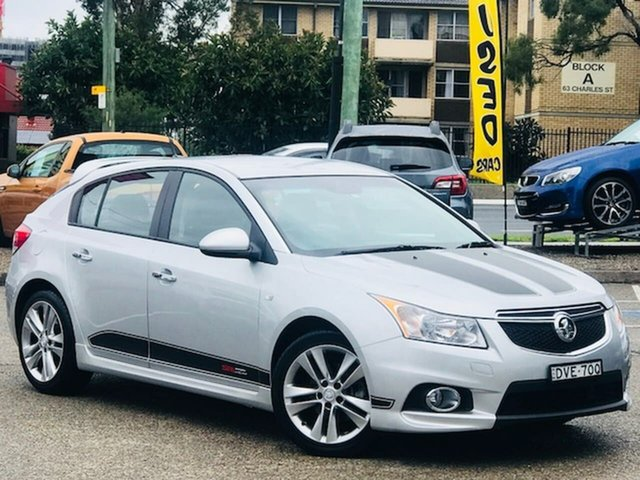 Used Holden Cruze JH Series II MY14 SRi Z Series Liverpool, 2014 Holden Cruze JH Series II MY14 SRi Z Series Silver, Chrome 6 Speed Sports Automatic Hatchback