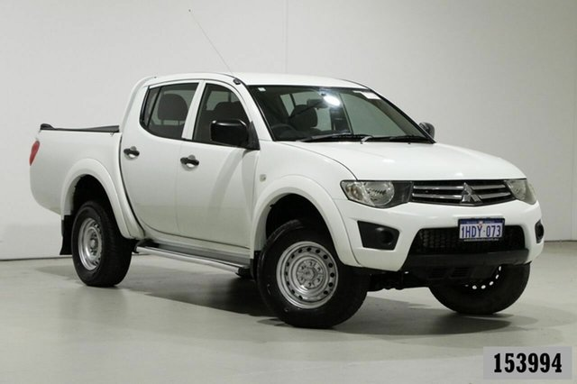Used Mitsubishi Triton MN MY15 GLX Bentley, 2015 Mitsubishi Triton MN MY15 GLX White 4 Speed Automatic Double Cab Utility