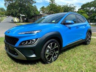 2020 Hyundai Kona Os.v4 MY21 Highlander 2WD Surfy Blue 8 Speed Constant Variable Wagon.