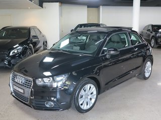 2011 Audi A1 8X MY11 Ambition S Tronic Black 7 Speed Sports Automatic Dual Clutch Hatchback.