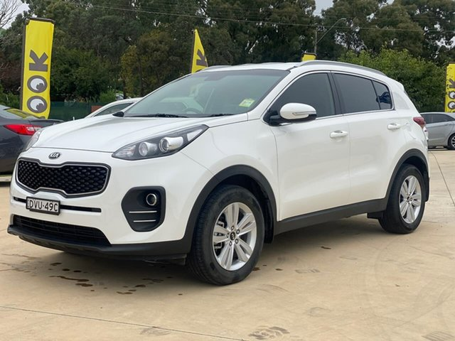 Used Kia Sportage SI Goulburn, 2018 Kia Sportage SI Clear White Sports Automatic Wagon