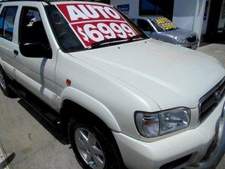 2001 Nissan Pathfinder WX II TI White 4 Speed Automatic Wagon.