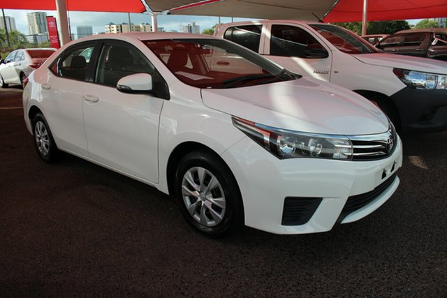 Pre-Owned Toyota Corolla ZRE172R Ascent S-CVT Darwin, 2016 Toyota Corolla ZRE172R Ascent S-CVT Glacier White 7 Speed Automatic Sedan