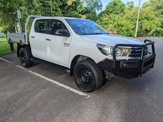 2016 Toyota Hilux GUN126R SR Double Cab White 6 Speed Manual Cab Chassis.