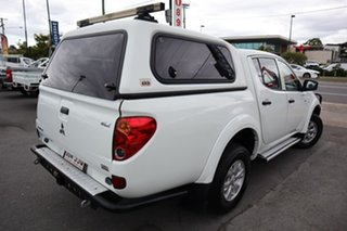 2012 Mitsubishi Triton MN MY12 GLX Double Cab White 5 Speed Manual Utility