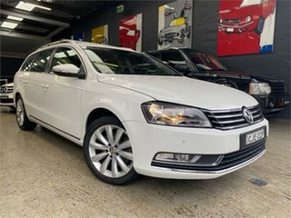 2012 Volkswagen Passat Type 3C 118TSI White Sports Automatic Dual Clutch Wagon.