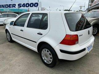 2001 Volkswagen Golf GL White 4 Speed Automatic Hatchback.