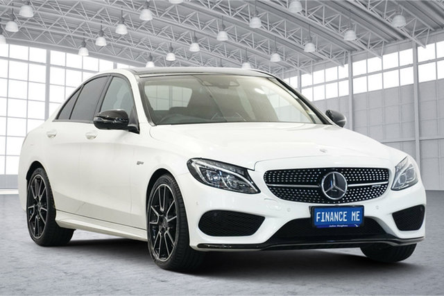 Used Mercedes-Benz C-Class W205 807+057MY C43 AMG 9G-Tronic 4MATIC Victoria Park, 2017 Mercedes-Benz C-Class W205 807+057MY C43 AMG 9G-Tronic 4MATIC White 9 Speed Sports Automatic