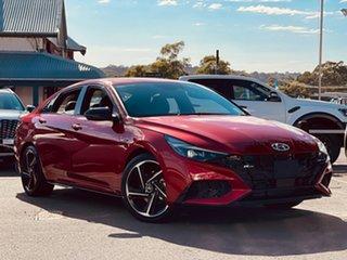 2020 Hyundai i30 CN7.V1 MY21 N Line D-CT Lava Orange 7 Speed Sports Automatic Dual Clutch Sedan.