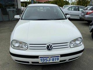 2001 Volkswagen Golf GL White 4 Speed Automatic Hatchback