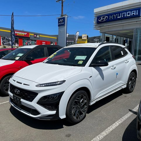 New Hyundai Kona Os.v4 MY21 N-Line D-CT AWD Premium Totness, 2020 Hyundai Kona Os.v4 MY21 N-Line D-CT AWD Premium ATLAS WHITE 7 Speed