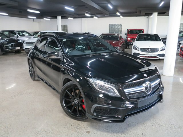 Used Mercedes-Benz GLA-Class X156 805+055MY GLA45 AMG SPEEDSHIFT DCT 4MATIC Albion, 2015 Mercedes-Benz GLA-Class X156 805+055MY GLA45 AMG SPEEDSHIFT DCT 4MATIC Cosmos Black 7 Speed