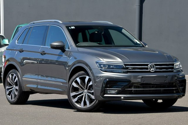 Demo Volkswagen Tiguan 5N MY20 162TSI DSG 4MOTION Highline Moorabbin, 2020 Volkswagen Tiguan 5N MY20 162TSI DSG 4MOTION Highline Grey 7 Speed Sports Automatic Dual Clutch