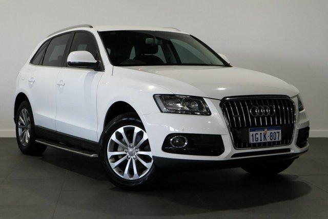 Used Audi Q5 8R MY13 TFSI Tiptronic Quattro Bayswater, 2013 Audi Q5 8R MY13 TFSI Tiptronic Quattro White 8 Speed Sports Automatic Wagon