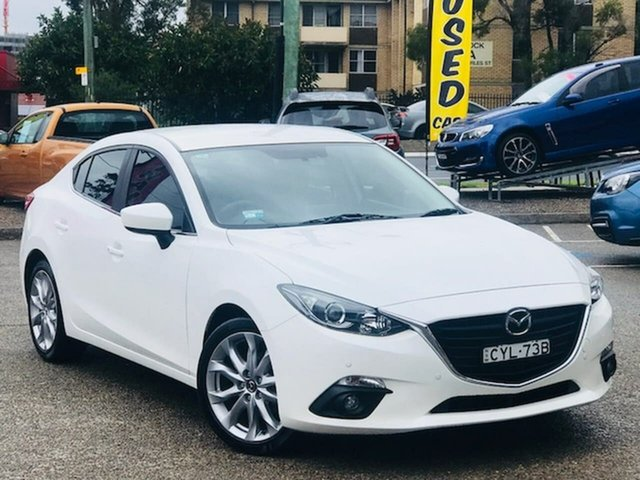 Used Mazda 3 BM5236 SP25 SKYACTIV-MT Liverpool, 2014 Mazda 3 BM5236 SP25 SKYACTIV-MT White 6 Speed Manual Sedan