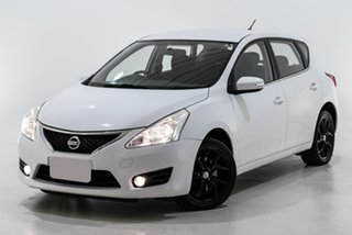 2014 Nissan Pulsar C12 ST-S White 1 Speed Constant Variable Hatchback.