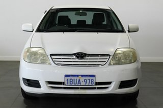 2004 Toyota Corolla ZZE122R Ascent White 4 Speed Automatic Sedan.