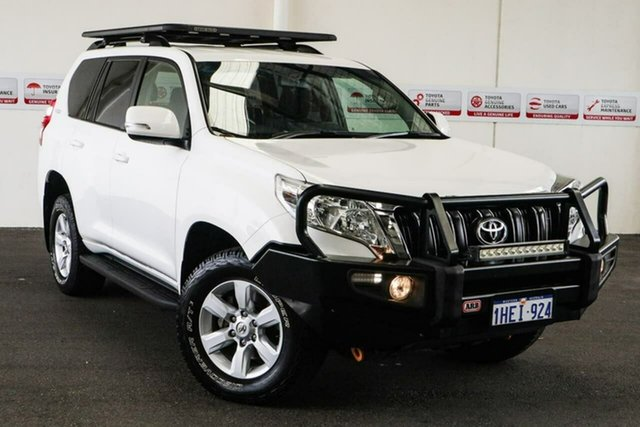 Pre-Owned Toyota Landcruiser Prado GDJ150R GXL Myaree, 2016 Toyota Landcruiser Prado GDJ150R GXL Crystal Pearl 6 Speed Sports Automatic Wagon