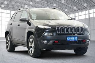 2018 Jeep Cherokee KL MY19 Trailhawk Black 9 Speed Sports Automatic Wagon.