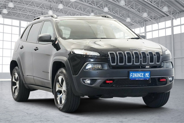 Used Jeep Cherokee KL MY19 Trailhawk Victoria Park, 2018 Jeep Cherokee KL MY19 Trailhawk Black 9 Speed Sports Automatic Wagon