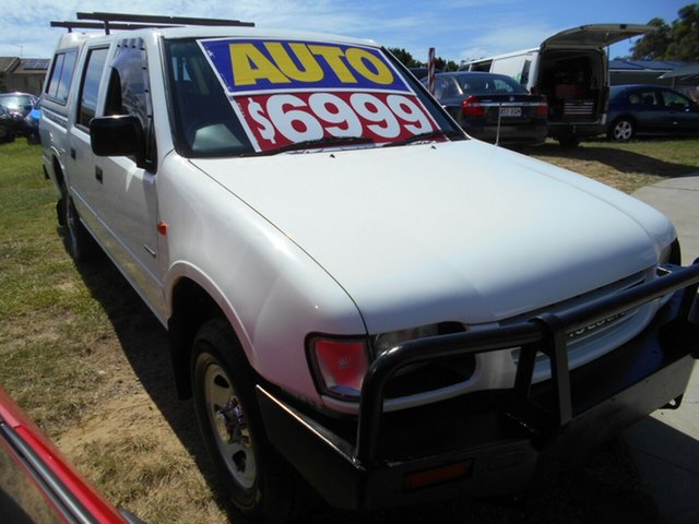 Used Holden Rodeo TF R9 LT Crew Cab 4x2 Springwood, 1998 Holden Rodeo TF R9 LT Crew Cab 4x2 White 4 Speed Automatic Utility