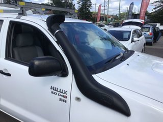 2011 Toyota Hilux KUN26R MY12 SR Double Cab White 5 Speed Manual Utility.