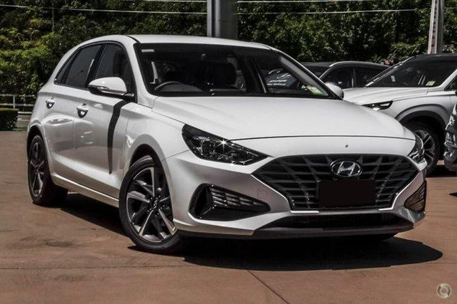 Demo Hyundai i30 PD.V4 MY21 Active Warwick Farm, 2020 Hyundai i30 PD.V4 MY21 Active Polar White 6 Speed Sports Automatic Hatchback