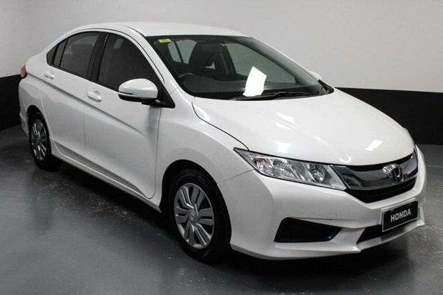 Used Honda City GM MY16 VTi Cardiff, 2016 Honda City GM MY16 VTi White 5 Speed Manual Sedan