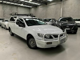 2009 Ford Falcon FG Ute Super Cab White 4 Speed Automatic Utility.