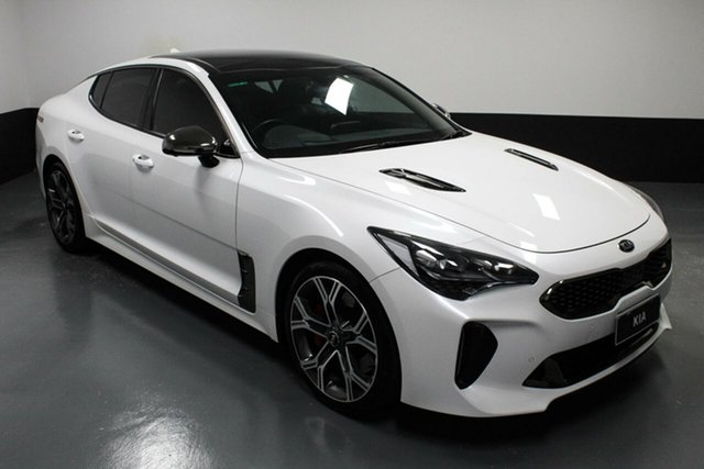 Used Kia Stinger CK MY18 GT Fastback Cardiff, 2018 Kia Stinger CK MY18 GT Fastback White 8 Speed Sports Automatic Sedan