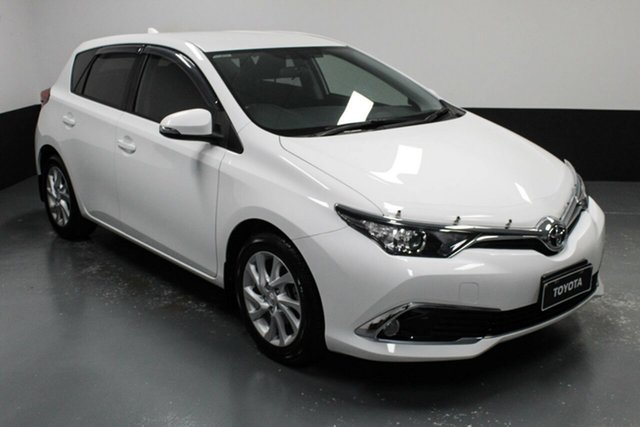 Used Toyota Corolla ZRE182R Ascent Sport S-CVT Cardiff, 2016 Toyota Corolla ZRE182R Ascent Sport S-CVT White 7 Speed Constant Variable Hatchback