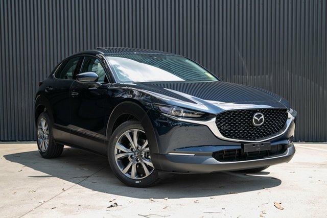 New Mazda CX-30 DM4WLA X20 SKYACTIV-Drive i-ACTIV AWD Astina Mornington, 2020 Mazda CX-30 DM4WLA X20 SKYACTIV-Drive i-ACTIV AWD Astina Deep Crystal Blue 6 Speed