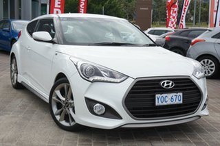 2016 Hyundai Veloster FS5 Series II SR Coupe D-CT Turbo White 7 Speed Sports Automatic Dual Clutch.