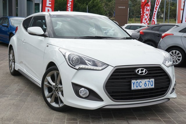 Used Hyundai Veloster FS5 Series II SR Coupe D-CT Turbo Phillip, 2016 Hyundai Veloster FS5 Series II SR Coupe D-CT Turbo White 7 Speed Sports Automatic Dual Clutch