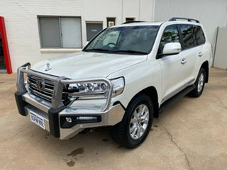2017 Toyota Landcruiser VDJ200R Sahara Crystal Pearl 6 Speed Sports Automatic Wagon.