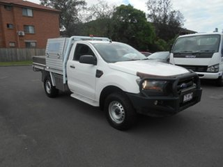 2016 Ford Ranger PX MkII MY17 XL 3.2 Plus (4x4) White 6 Speed Automatic Cab Chassis.
