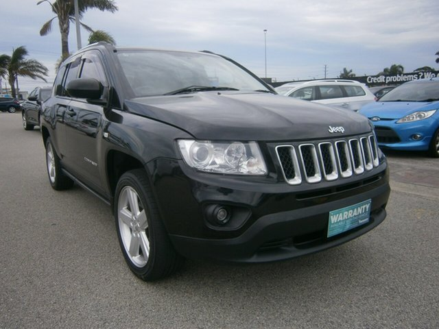 Used Jeep Compass MK MY12 Limited CVT Auto Stick Cheltenham, 2012 Jeep Compass MK MY12 Limited CVT Auto Stick Black 6 Speed Constant Variable Wagon