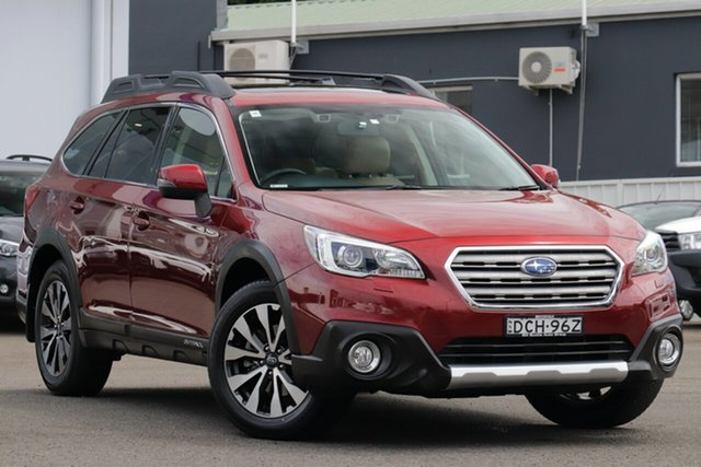 Pre-Owned Subaru Outback B6A MY16 2.5i CVT AWD Premium Brookvale, 2016 Subaru Outback B6A MY16 2.5i CVT AWD Premium Red 6 Speed Constant Variable Wagon