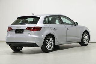 2016 Audi A3 8V MY16 Sportback 1.6 TDI Attraction Silver 7 Speed Auto Direct Shift Hatchback
