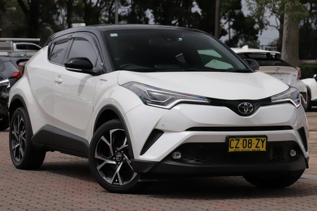 Pre-Owned Toyota C-HR NGX50R Koba S-CVT AWD Warwick Farm, 2019 Toyota C-HR NGX50R Koba S-CVT AWD Crystal Pearl – Black Roof 7 Speed Constant Variable SUV