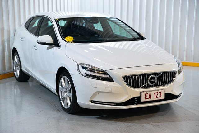 Used Volvo V40 M Series MY18 T4 Adap Geartronic Inscription Hendra, 2017 Volvo V40 M Series MY18 T4 Adap Geartronic Inscription White 6 Speed Sports Automatic Hatchback