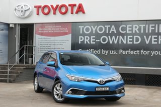 2016 Toyota Corolla ZRE182R Ascent Sport S-CVT Blue Gem 7 Speed Constant Variable Hatchback.