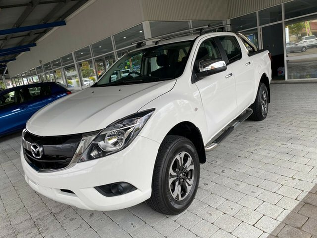 Used Mazda BT-50 XTR Taree, 2017 Mazda BT-50 XTR White Sports Automatic Dual Cab Utility