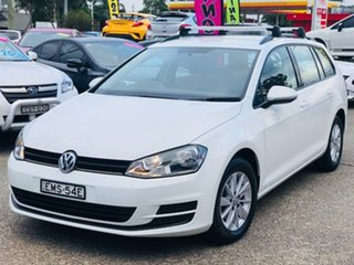 2015 Volkswagen Golf VII MY15 90TSI DSG White 7 Speed Sports Automatic Dual Clutch Wagon.