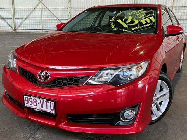 Used Toyota Camry ASV50R Atara SX Rocklea, 2013 Toyota Camry ASV50R Atara SX Red 6 Speed Sports Automatic Sedan