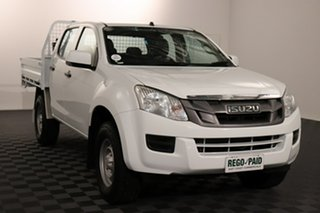2016 Isuzu D-MAX MY15.5 SX Crew Cab White 5 speed Automatic Cab Chassis.