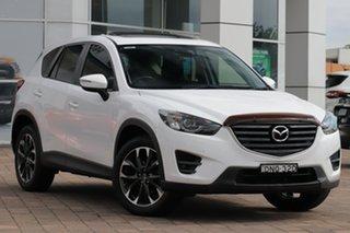 2016 Mazda CX-5 KE1032 Grand Touring SKYACTIV-Drive AWD White 6 Speed Sports Automatic SUV.