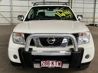 2008 Nissan Navara D40 ST-X White 5 Speed Automatic Utility.