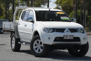 2014 Mitsubishi Triton MN MY15 GLX-R Double Cab White 5 Speed Manual Utility.
