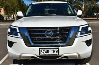 2020 Nissan Patrol Y62 Series 5 MY20 TI Moonstone White 7 Speed Sports Automatic Wagon.